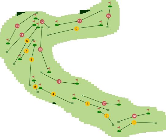Ardglass Golf Club Course Map