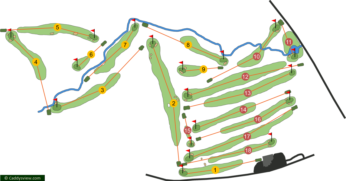 Ballyclare Golf Club Course Map