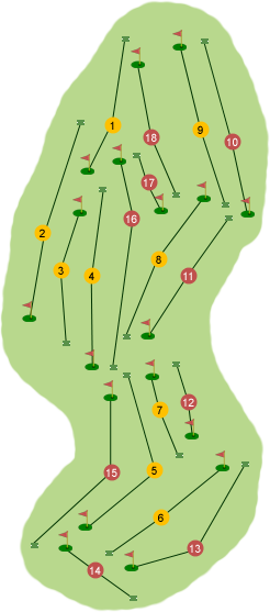 Bangor Golf Club Course Map