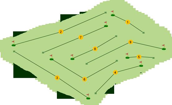 Bentra Golf Club Course Map