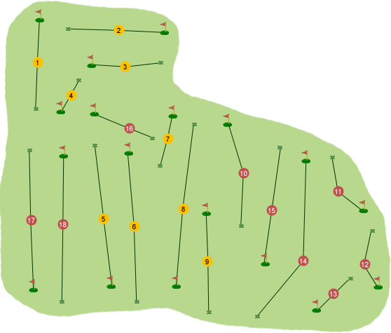 Bright Castle Golf Club Course Map
