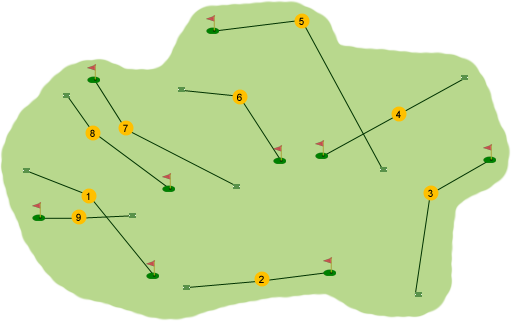 Brown Trout Golf Club Course Map