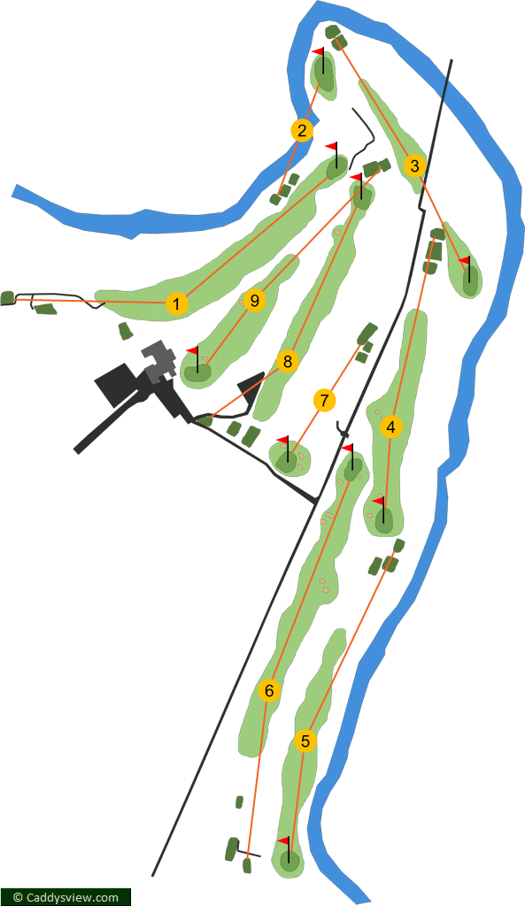 Bushfoot Golf Club Course Map