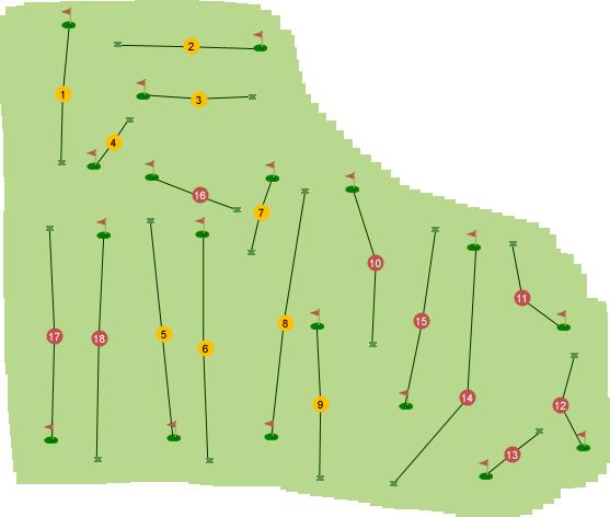Carnalea Golf Club Course Map
