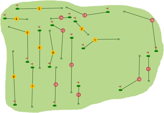 Castle Hume Golf Club Course Map