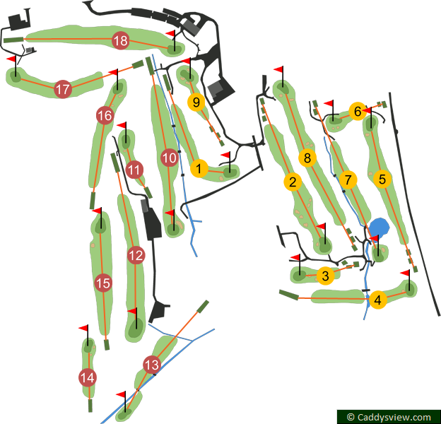 Castlereagh Hills Golf Club Course Map