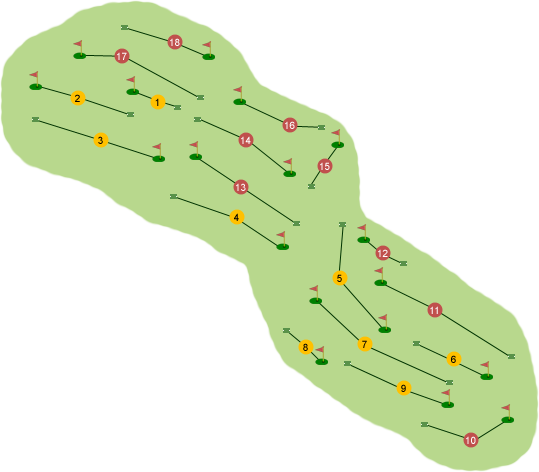 City of Derry Golf Club Course Map