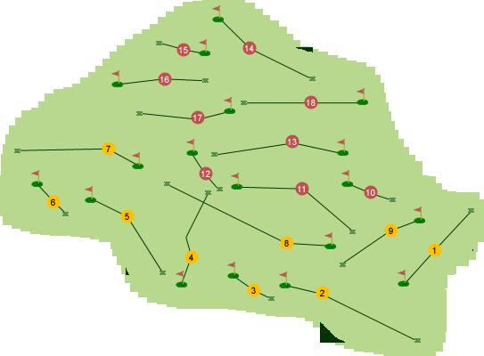Clandeboye Golf Club Ava Course Map