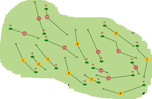 Clandeboye Golf Club Dufferin Course Map