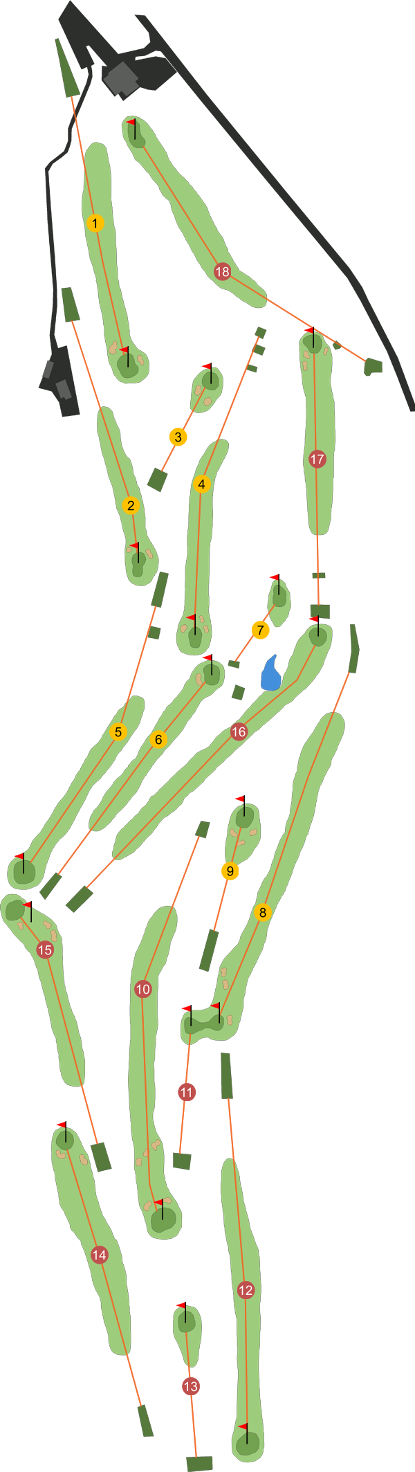 County Armagh Golf Club Course Map