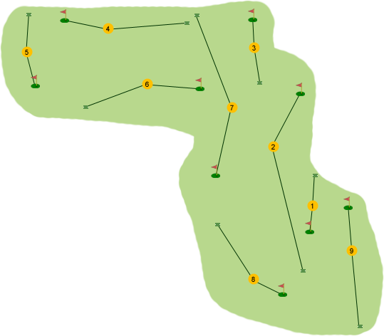 Crossgar Golf Club Course Map