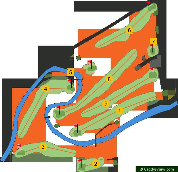 Cushendall Golf Club Course Map