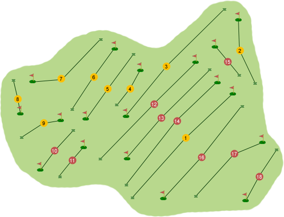 Downpatrick Golf Club Course Map