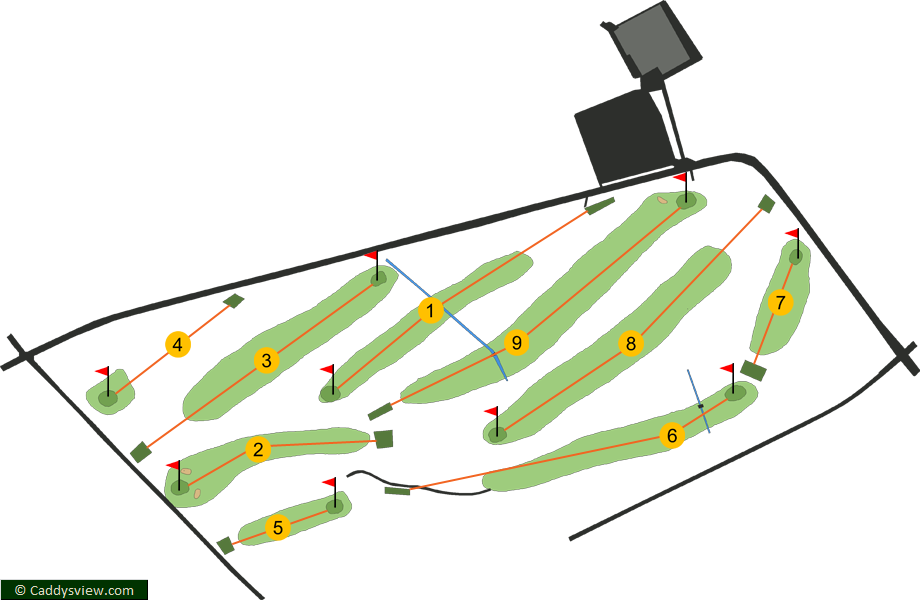 Down Royal Golf Club 9 Hole Course Map