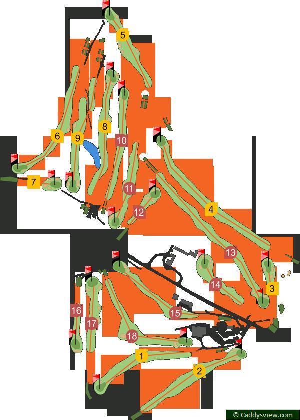 Dunmurry Golf Club Course Map