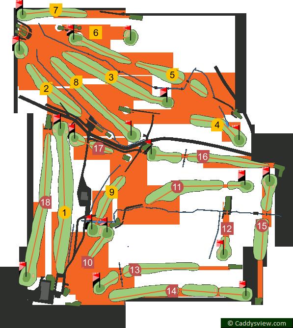 Fortwilliam Golf Club Course Map