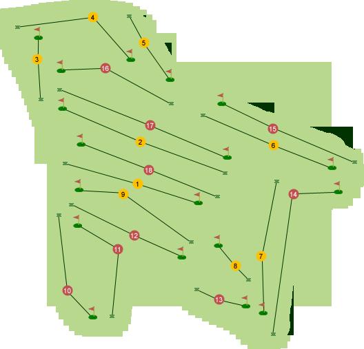 Foyle Golf Club Course Map