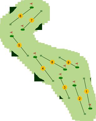 Foyle Golf Club Par 3 Course Map