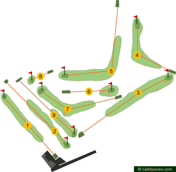 Greenisland Golf Club Course Map