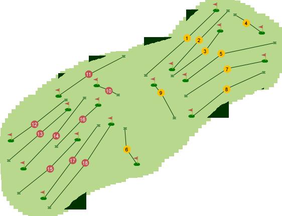 Holywood Golf Club Course Map