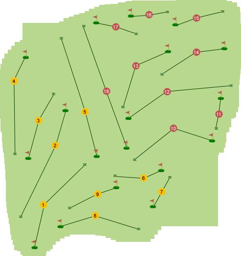 Killymoon Golf Club Course Map