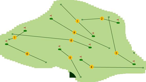 Larne Golf Club Course Map