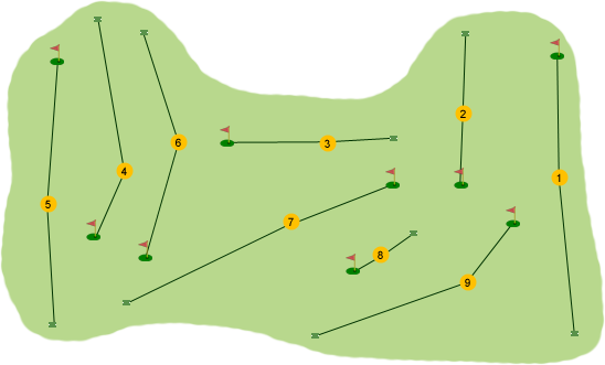 Mahee Island Golf Club Course Map