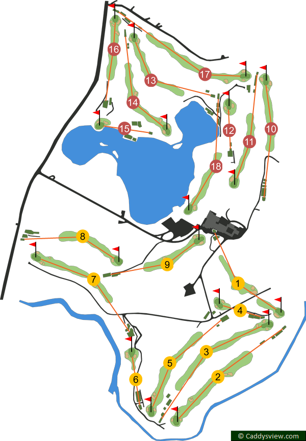 Malone Golf Club Course Map