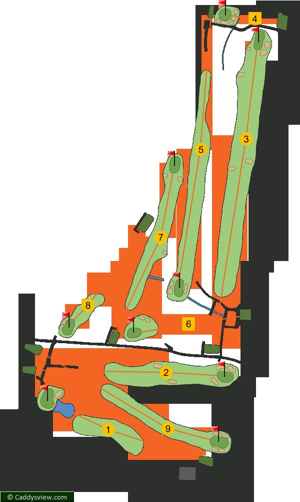 Ormeau Golf Club Course Map