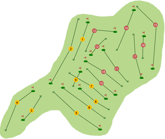Rockmount Golf Club Course Map