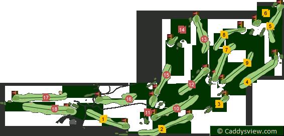 Royal Portrush Golf Club Dunluce Course Map