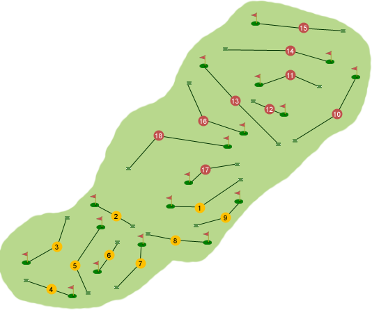 Silverwood Golf Club Course Map