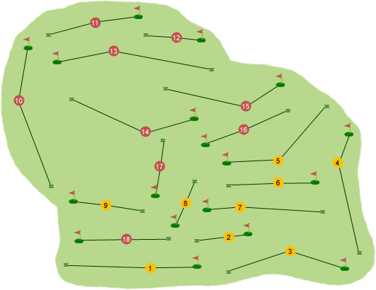 Spa Golf Club Course Map